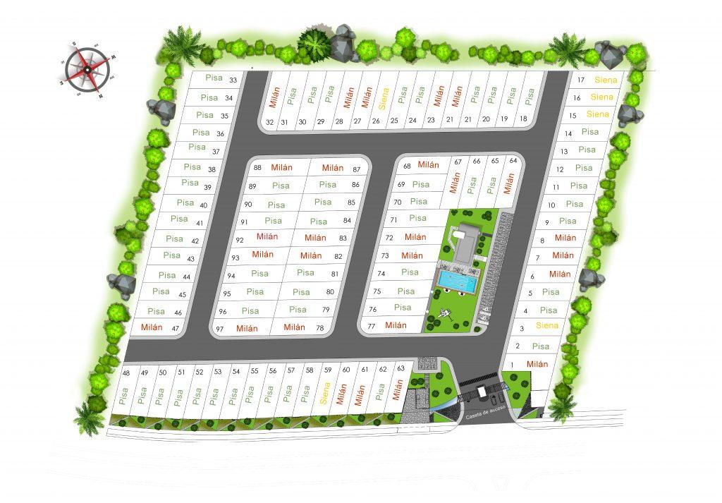 master plan casas en zibata