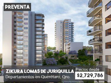 Departamentos en preventa Lomas de Juriquilla Querétaro